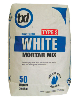 I always get asked about which mortar I use, this is the bag. It's only available at The Home Depot here in Texas - I did notice you can order it if you can't find it near you and have it delivered!  - LB
