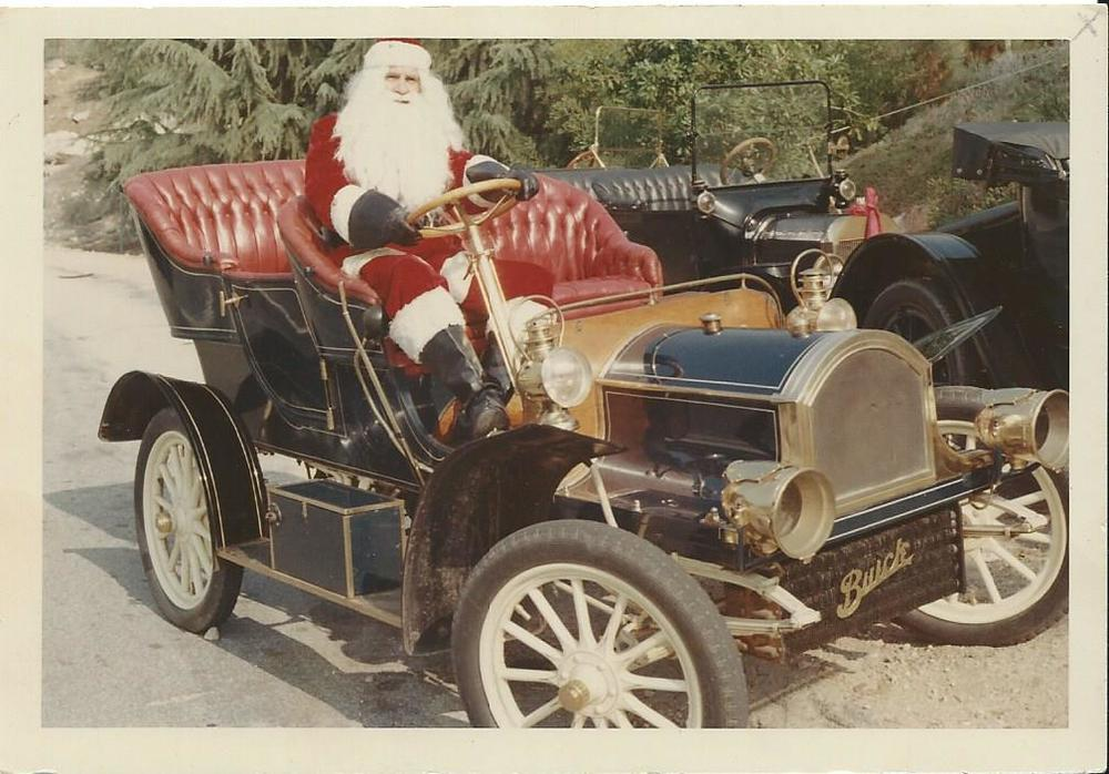 Warwick Eastwood as Santa in 1966 in his 1905 Buick