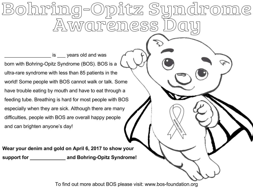 2017 BOS Coloring Page — Bohring-Opitz Syndrome Foundation, Inc.