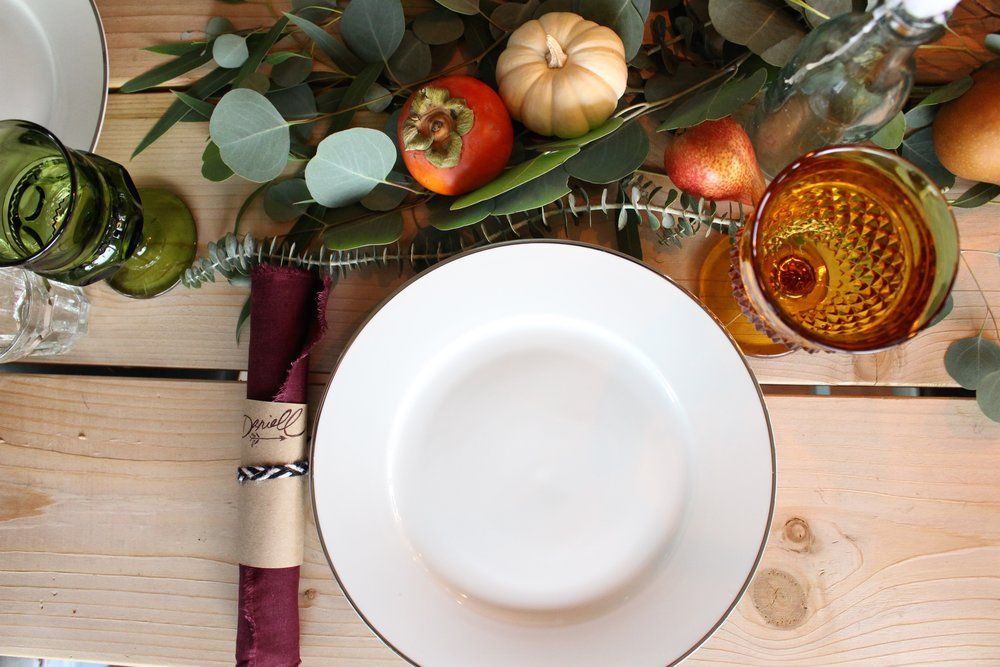 Happy Thanksgiving Table Edible Arrangment