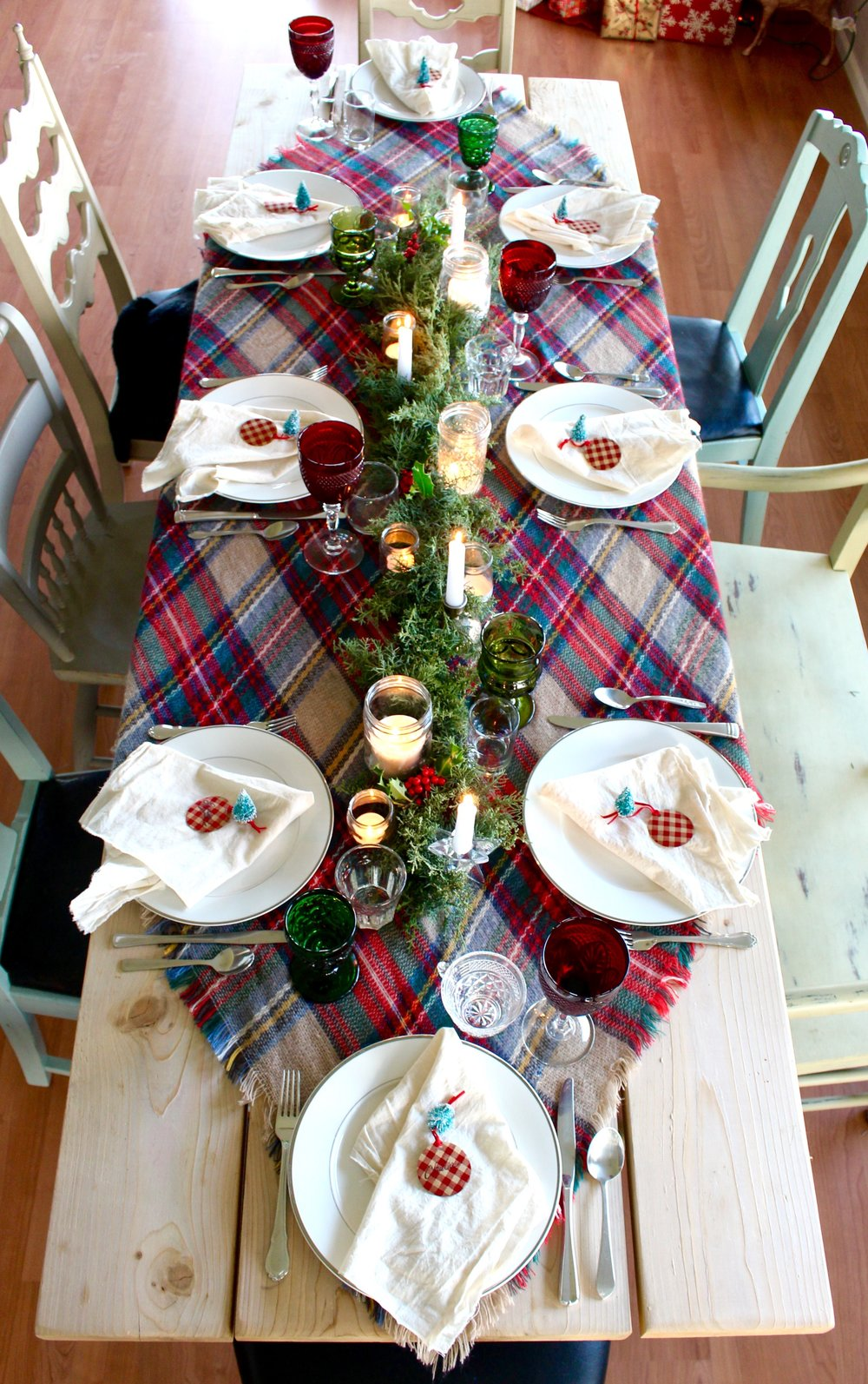 Blanket Scarf Christmas Table