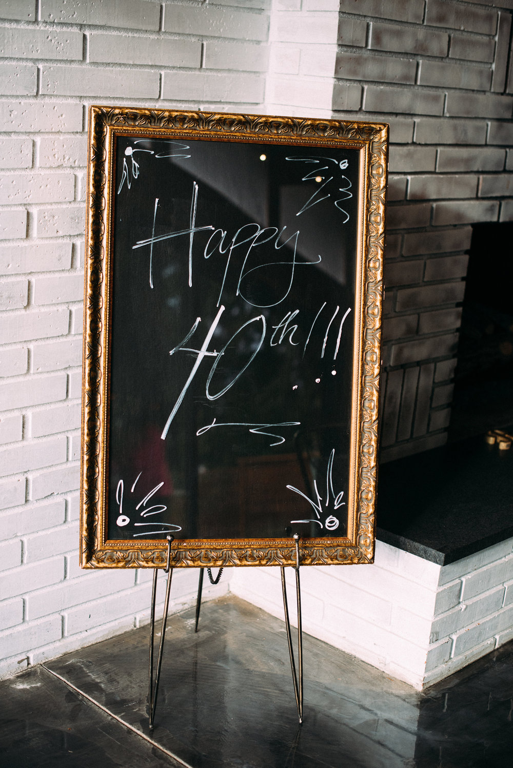 Large empty frames make the best signs - the glass is the perfect canvas for any message you want to create.
