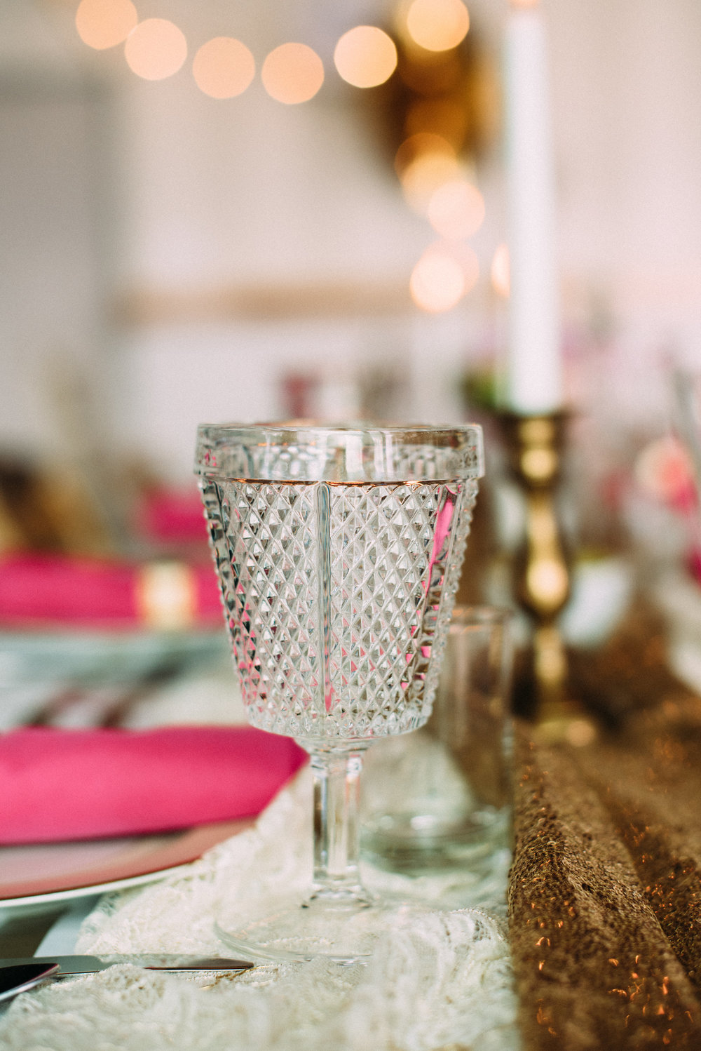 Collect mix matched goblets to give even more depth to the design