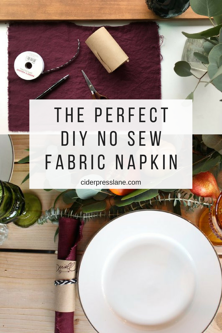 perfect diy no sew fabric napkin how to tips tablescapes dinner party.png