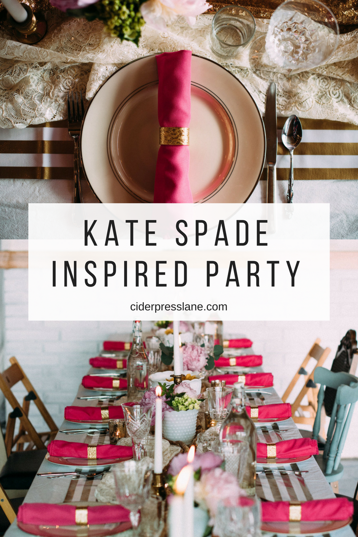 kate spade inspired party anniversary birthday dinner party events pink gold white.png