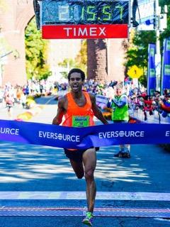 Overall Champion at the 2015 Hartford Marathon