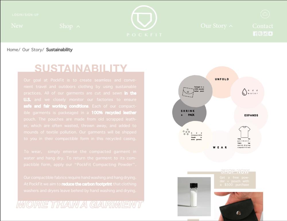 Website > Sustainability Statement