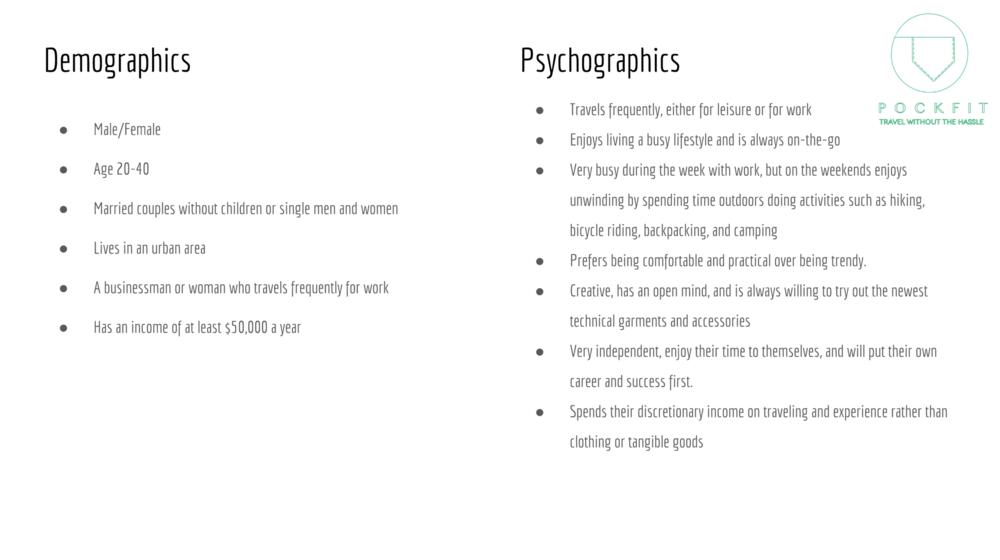Demographics & Psychographics