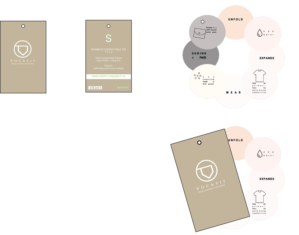 Hang Tags  Designed on Illustrator and InDesign CC