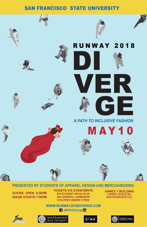 Runway 2018: DIVERGE Poster