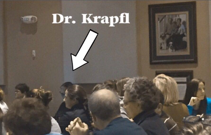 We yelled at Dr. Krapfl to come sit with us. I don't even think the people near us heard us. We wanted to sit with you Bob. We just are not loud people.