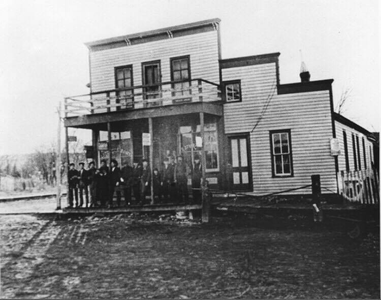 This is the earliest photo I have. Not much going on in South Bend in 1880 but there were farms and rock quarries in the area, maybe even the railroad by that time. You can see a few of the locals gathered on the front porch for this event.