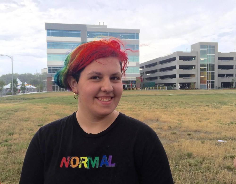 My Gorgeous Daughter Amanda at Pride 2016 IN FULL COLOR! :)