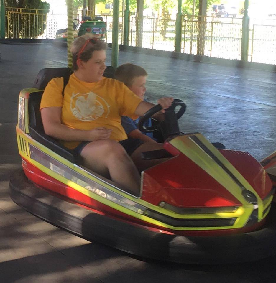 Amanda and Charlie. I love these two together. They have fun but both have a calm, serious side that sometimes comes out when they are together, even when trying to smash their family in bumper cars.