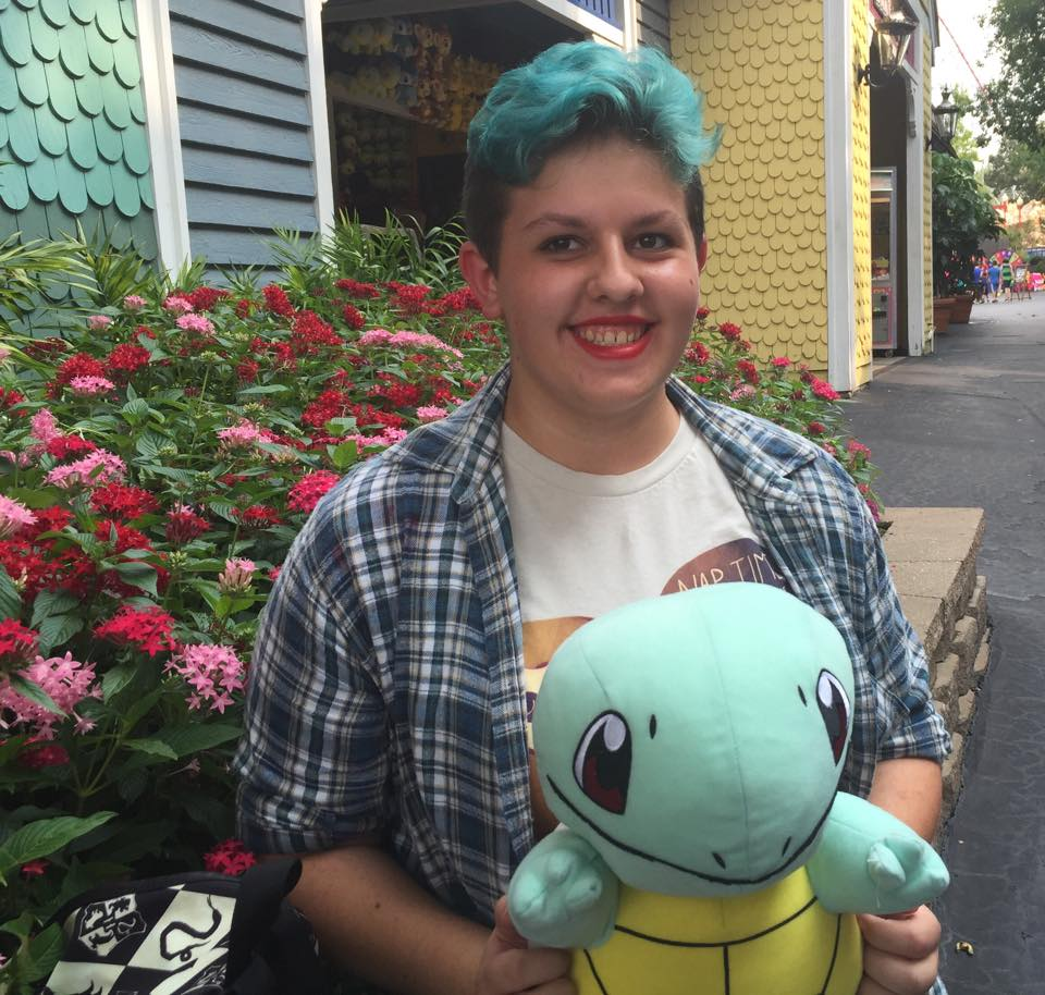 Amanda and Squirtle at Worlds of Fun
