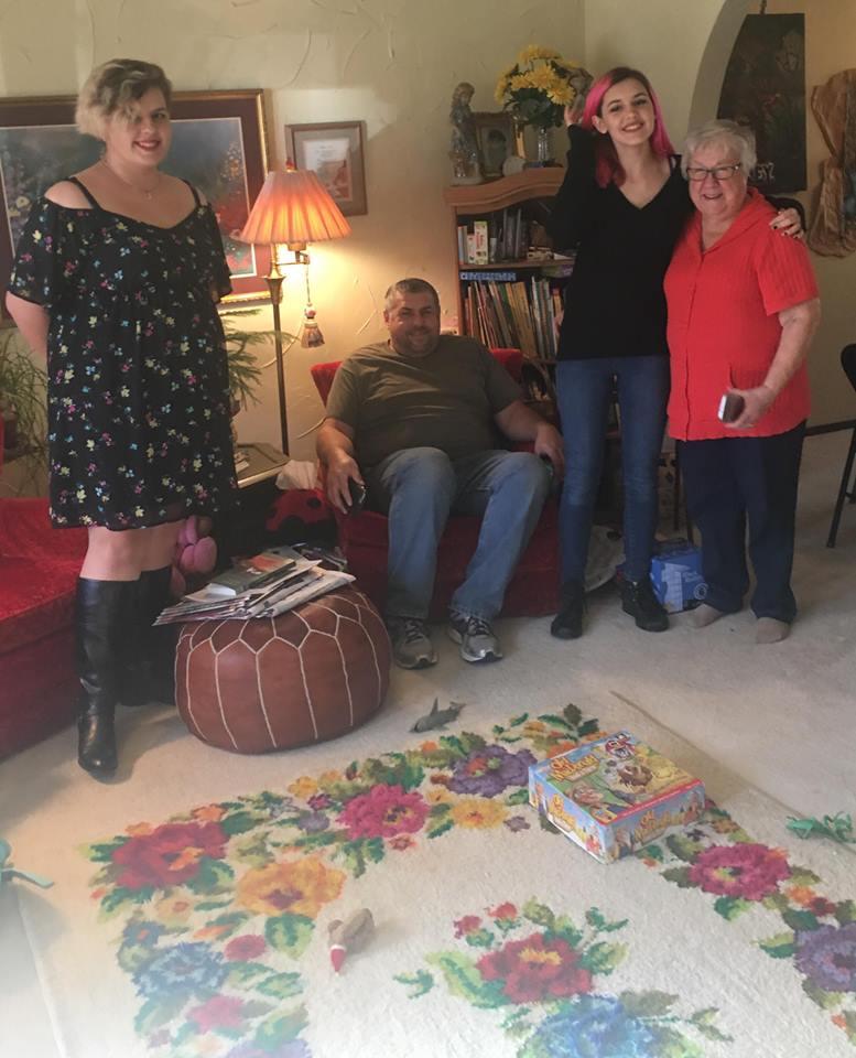 Amanda, Russ, Abby and Grandma Finch