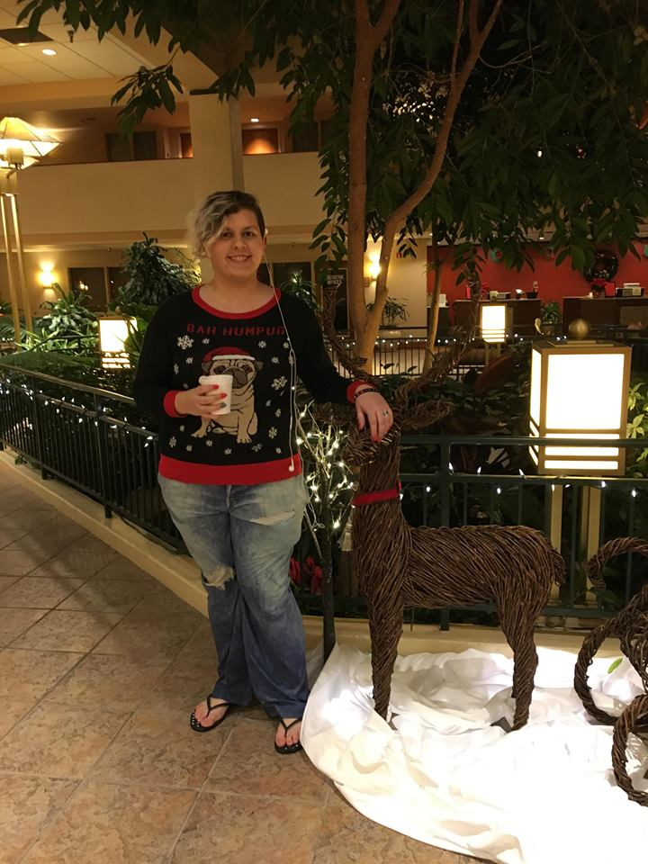 We stayed at the Embassy Suites downtown. It was beautiful!