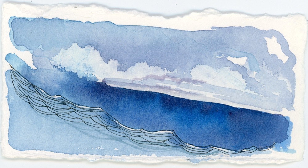 Storm over Sea - 3x6