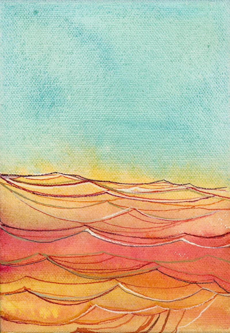 Autumn Ocean . 5x7