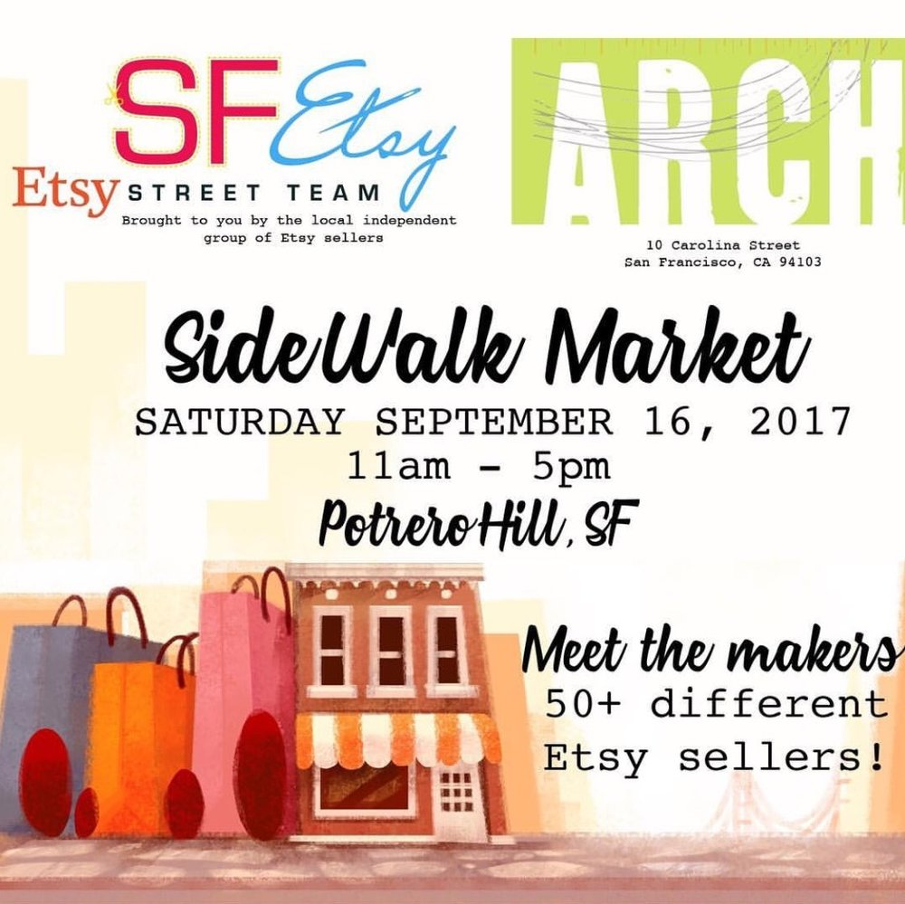 Join me and other Etsy sellers at ARCH art supply in San Francisco! More info click on the picture above. I will have a selection of mini paintings, new originals on special paper, ornaments, owl cards, bags and more! See you there!
