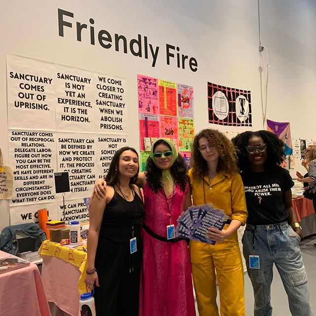 With our amazing buds @press_press_bmore at #laabf2019 , about to wrap of Saturday y'all! We'll be here table R17! And don't forget to check our press press at friendly fire: table 002!