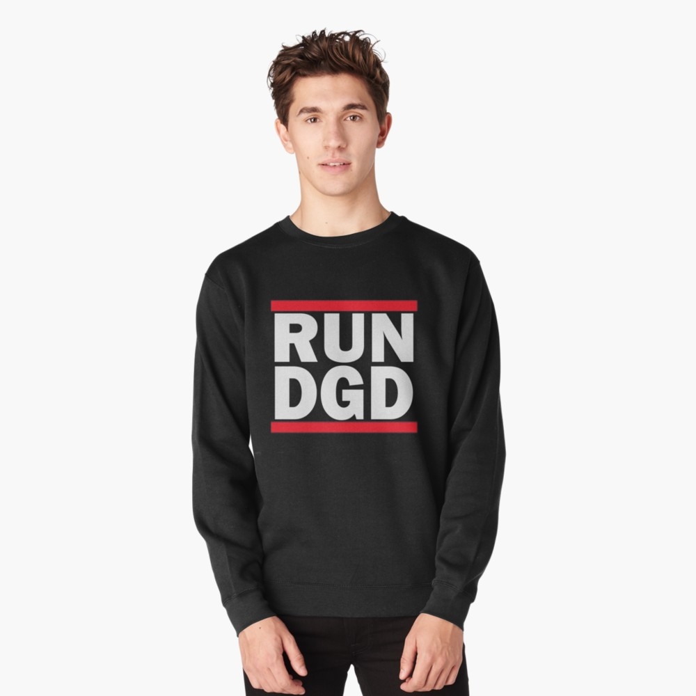 RUN DGD Stacked Logo Unisex Pullover by Dead Glass Design