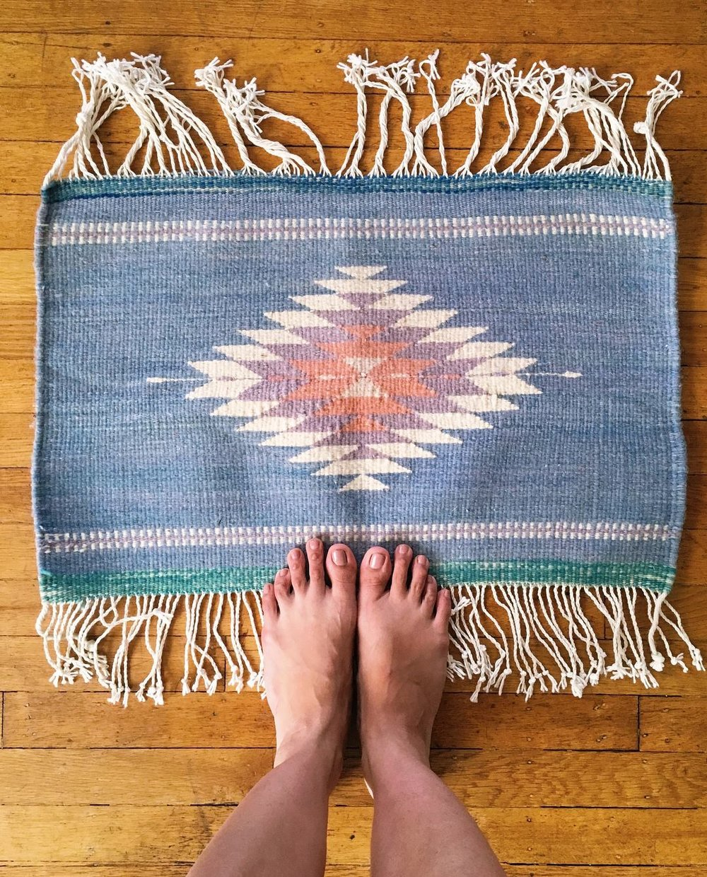 Hand woven rug I made under the instruction of a Zapotec weaver in Teotihuacan, Mexico.