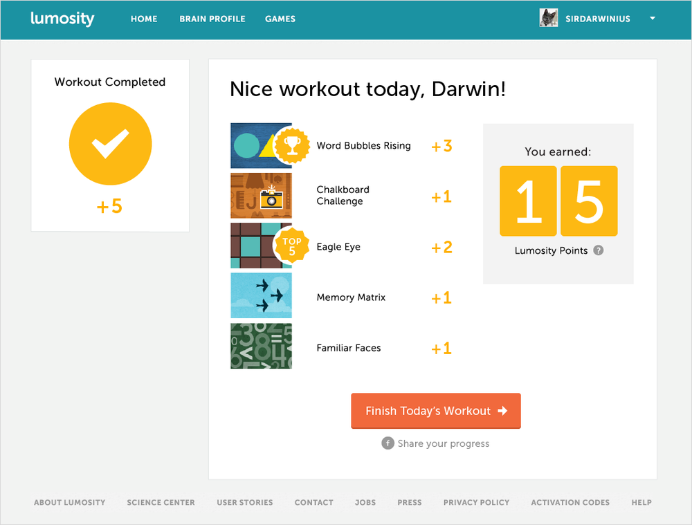 Post-Workout Screen Redesign