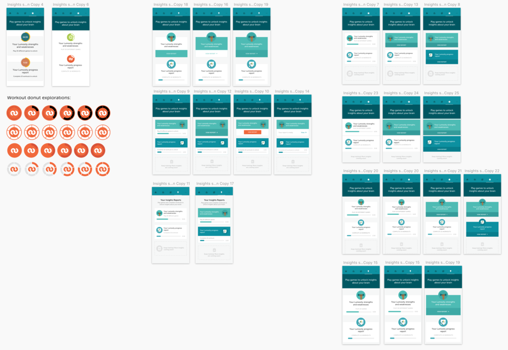Exploring report layout and progress bars for Insights