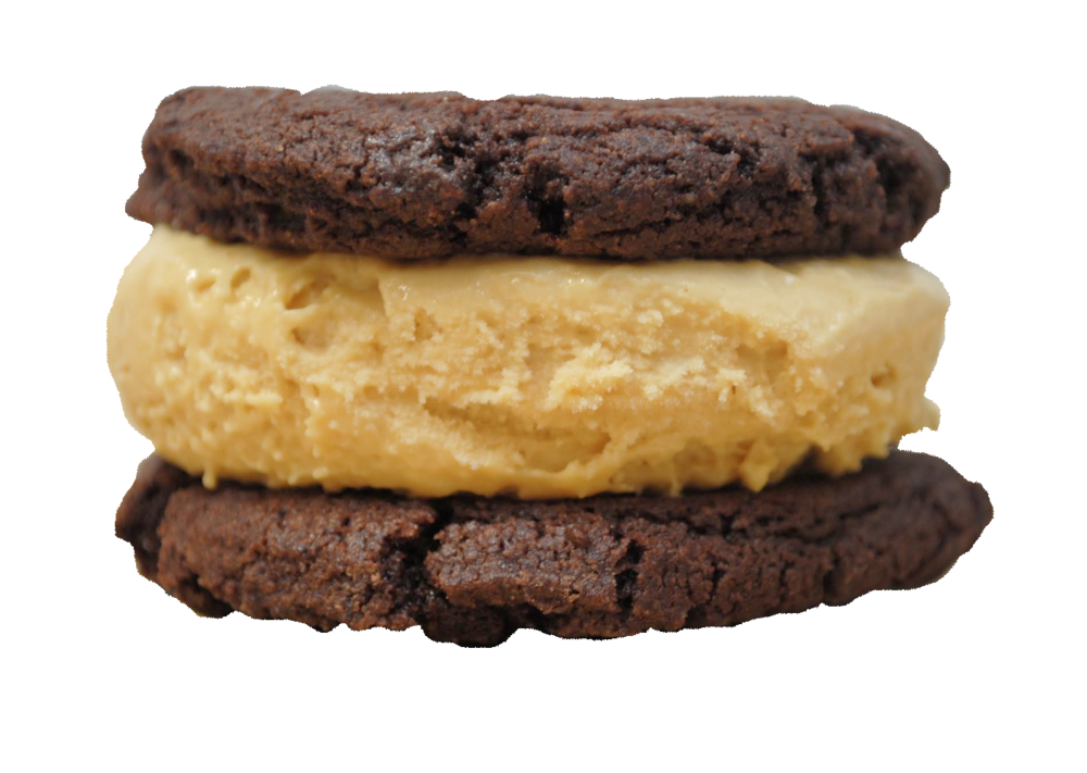 SHIVER ME TIMBERS : Caramel & Sea Salt ice cream between two chocolate cookies