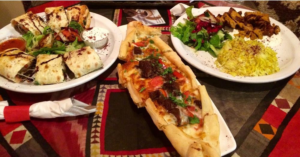 Ali Nazik, Kuzu Pide & Beef Beyti from Café Turko