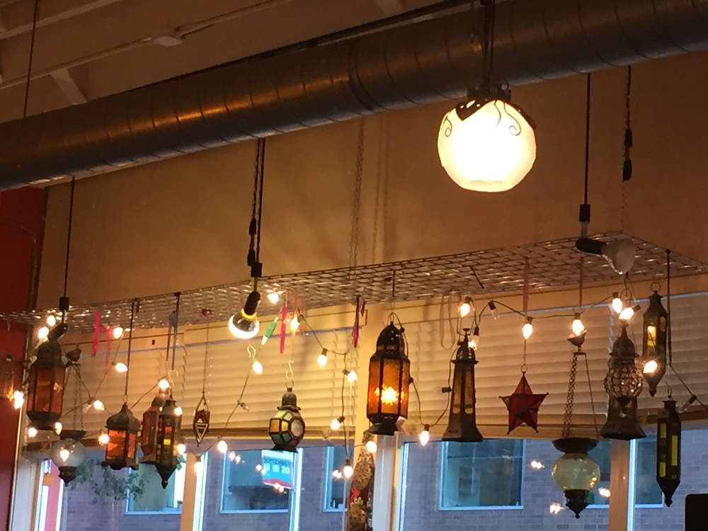 Cool Lamps at Café Turko