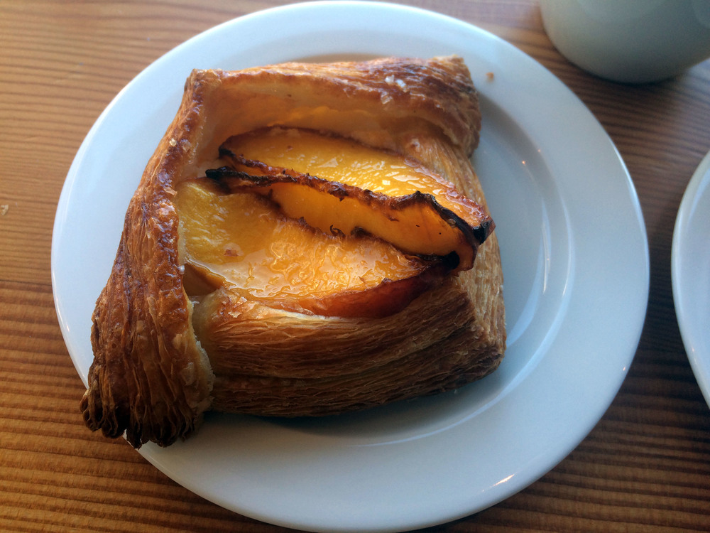 Seasonal croissant with nectarines