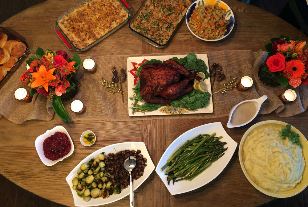 Table Set Up ( 2 other turkey's didn't make the cut)