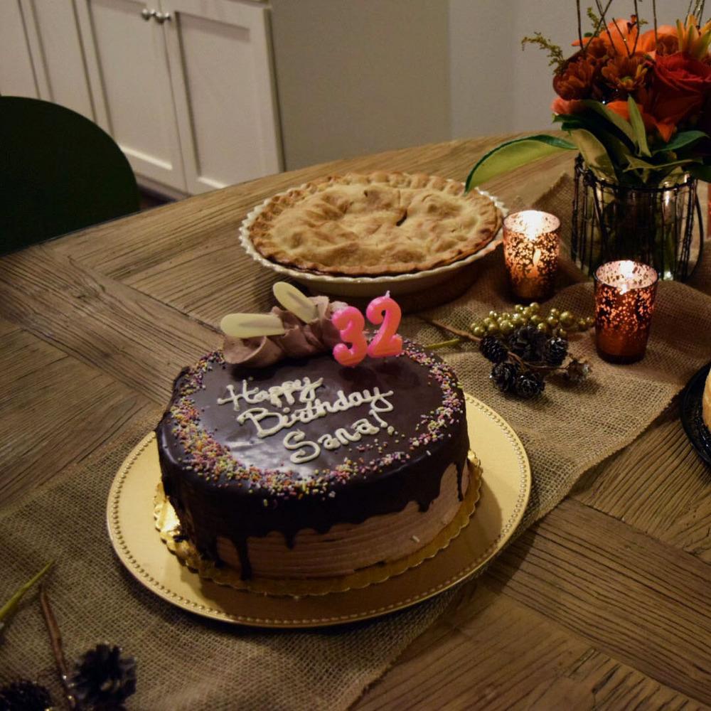 Celebrating Birthdays : Low key wanted cake with pie