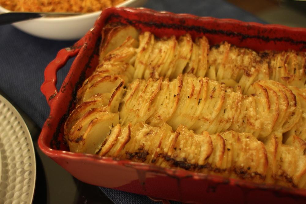 Hasselback Potato Gratin