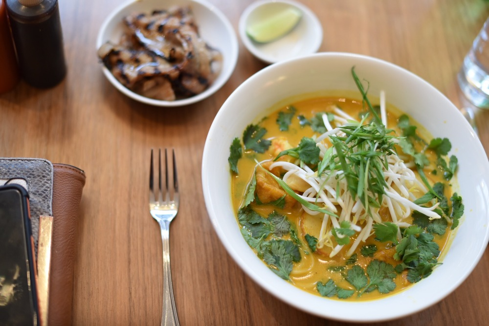 Laksa curry and pork belly