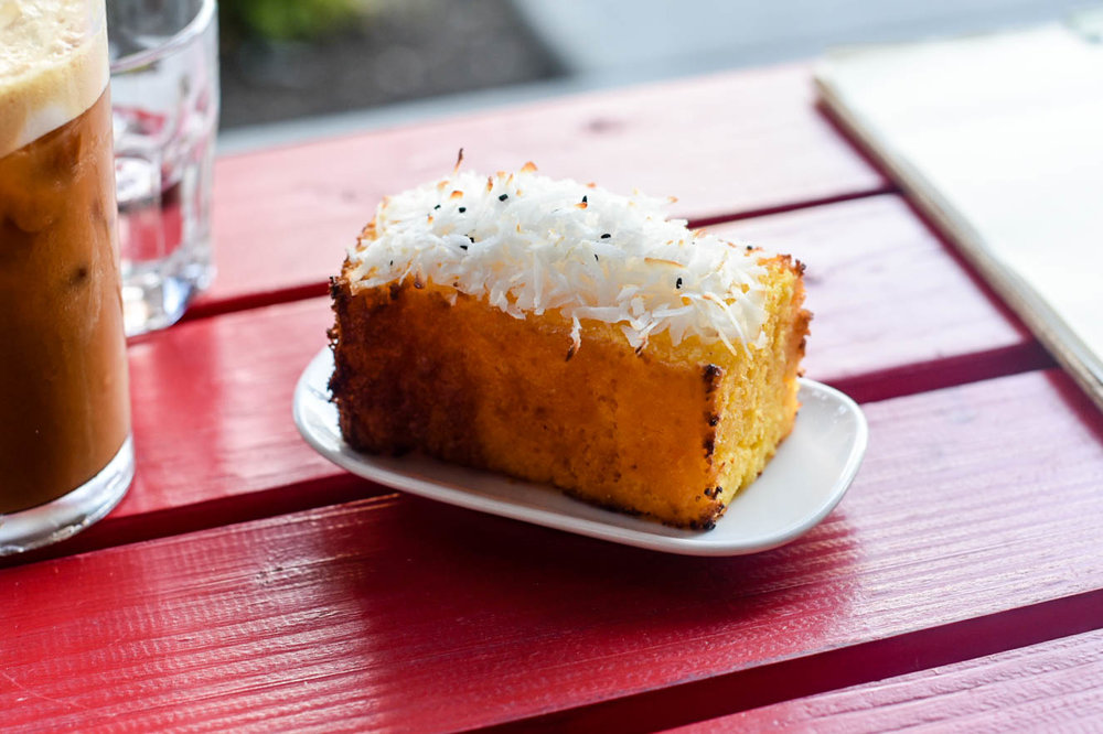Pineapple coconut cornbread