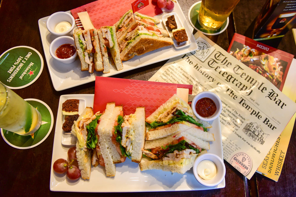 The Temple Bar : 2 of 100 sandwiches
