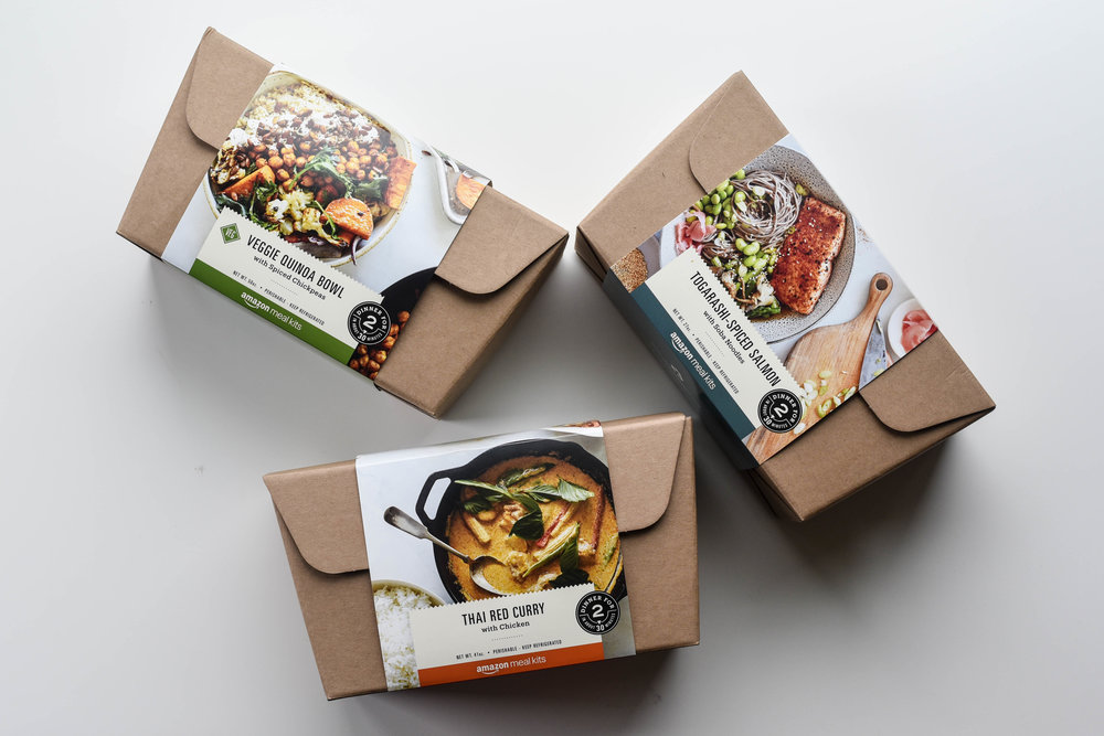 amazon meal kits packaging