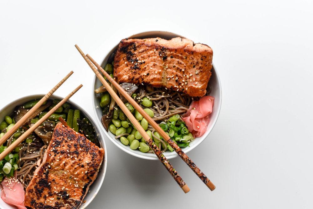 togarashi spiced salmon
