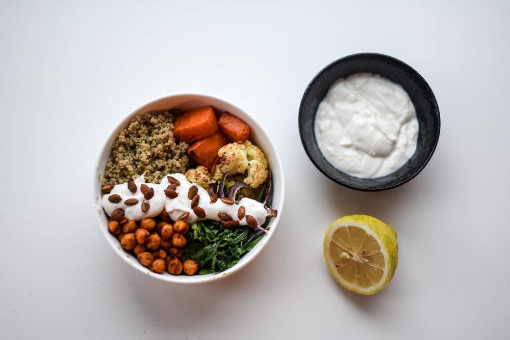 veggie quinoa bowl
