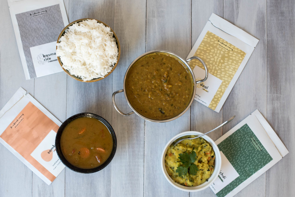 The Buttermilk Company: Khichdi, Daal, Sambar and Basmati rice
