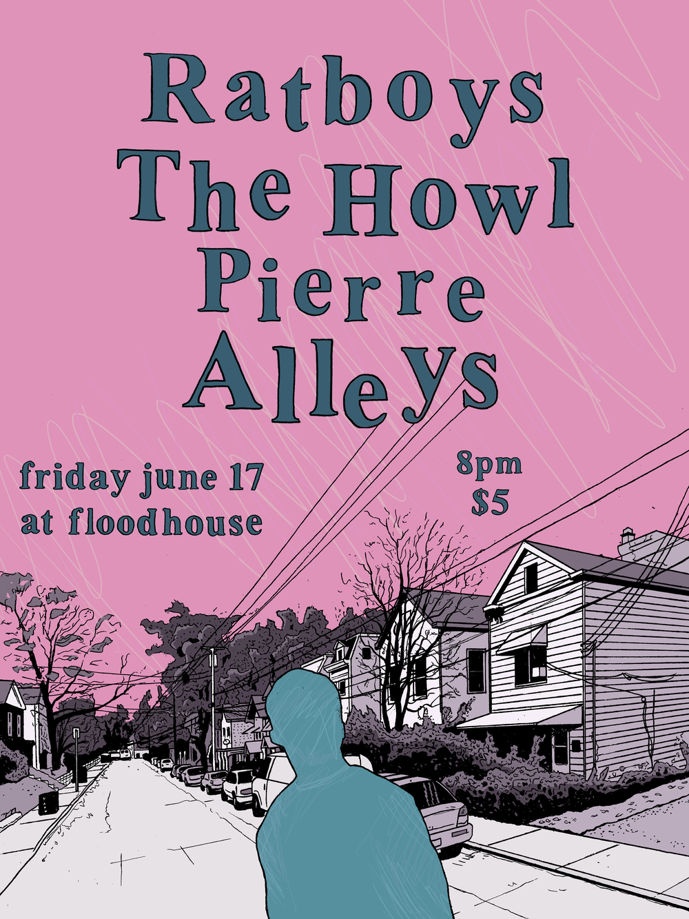 Ratboys, The Howl, Pierre, and Alleys live at Flood House