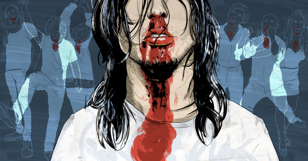Andrew WK - 15 Years After 'I Get Wet,' Andrew W.K.'s Nose Is Still Dripping Blood by Dan Ozzi