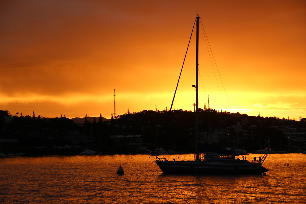 Sunset in Noumea.