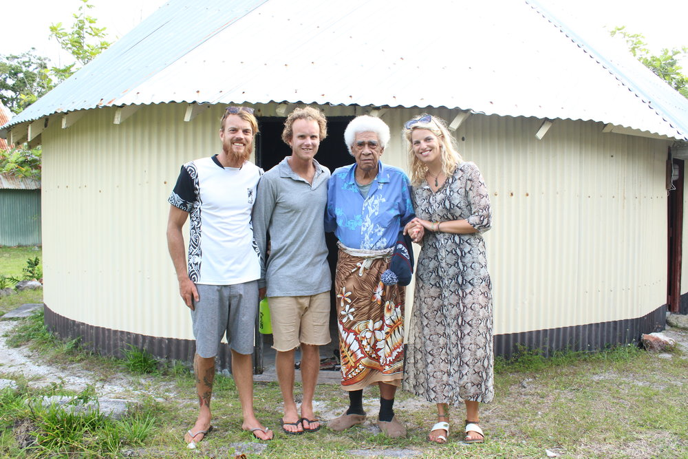 Andy, Michael, the Chief and Holly. The chief is in his nineties and still ports a great sense of humor and well as warm welcome to visitors. He also took a liking to Holly, commenting on her good looks and informed her she could stay as long as she likes. We heard that he gets quite cold at times so Andy gave him one of his Luca Brasi  beanies ( a Tassie momento ).