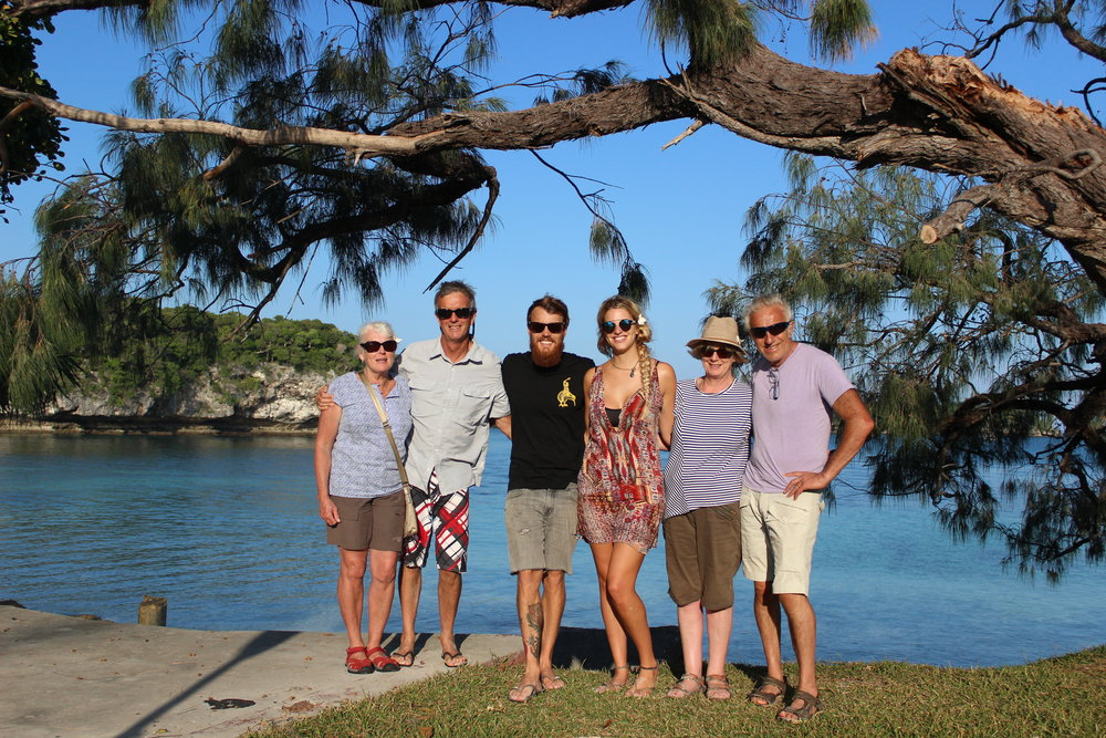 Getting the Parents together in paradise. Lois, John, Andy, Holly, Sara, and Bruce.