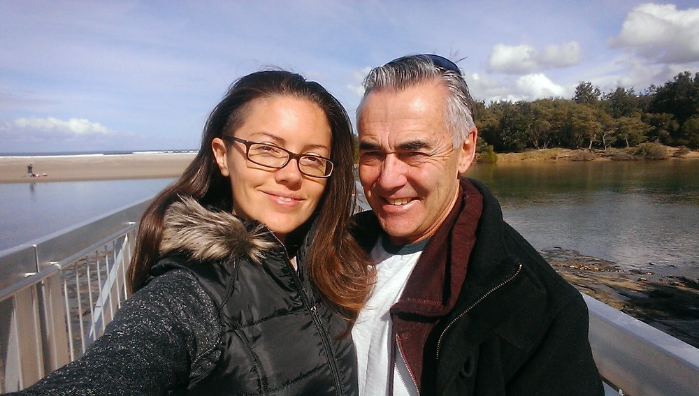 Barry and me in Sydney (in winter, wow. Seems so far away right now)