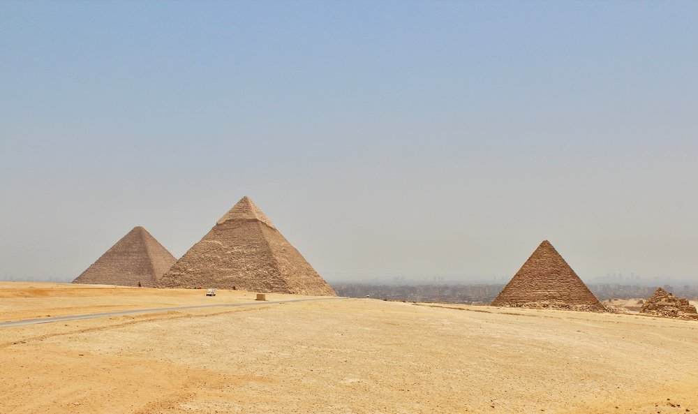 Great Pyramids of Giza . July 2017